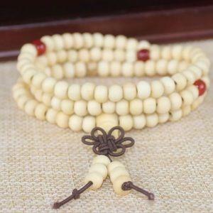 Ivory White Sandalwood Meditation Bead Bracelet